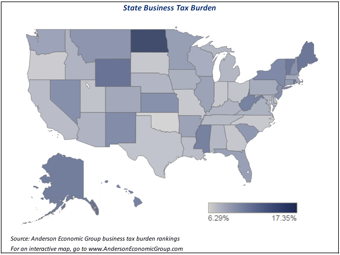 Vermont Business Tax Burden One Of The Highest In US Vermont - Vermont in us map