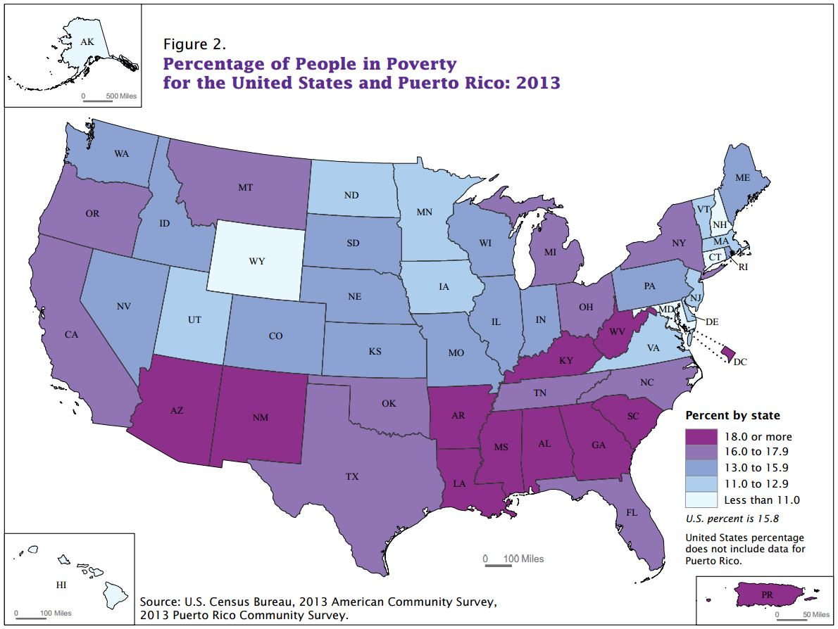 Census Vermont Household Income Down Poverty Up Slightly In - Us census income map