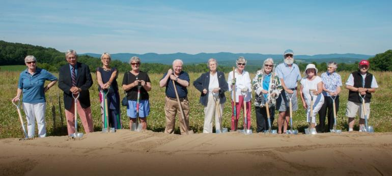 ... Early Depositors, And Gifford Staff And Board Members Gathered On July  12, 2016 To Celebrate Groundbreaking For 49 Independent Living Apartments  At The ...