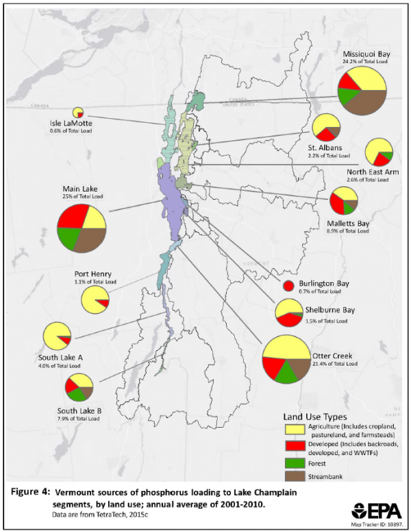 EPA targets farming to cut Lake Champlain phosphorus ... on topographical map of vermont, tourist map of vermont, geologic map of vermont, political map of vermont,