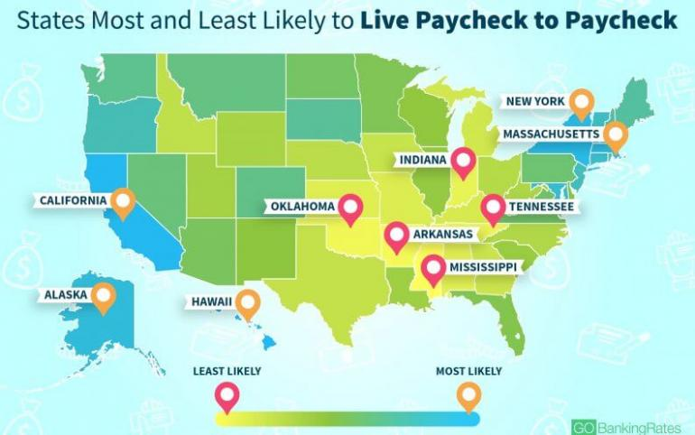 Vermont Among States Most Likely To Live Paycheck To Paycheck - Vermont political map