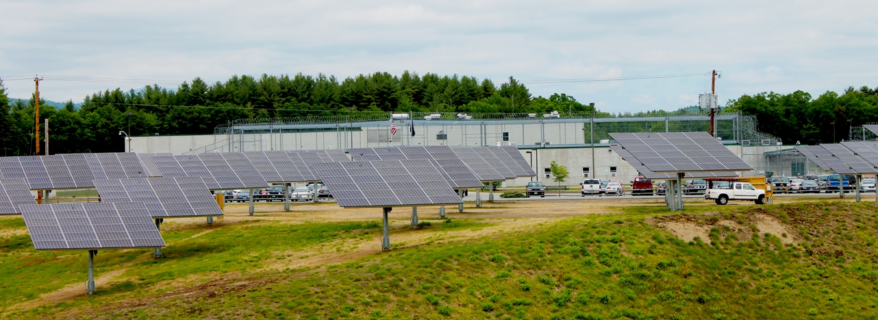 solar panels installed in one of the correctional facilities in US